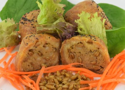EDME - Savoury Meals - WholeSoft Sprouted in pork pies with side salad